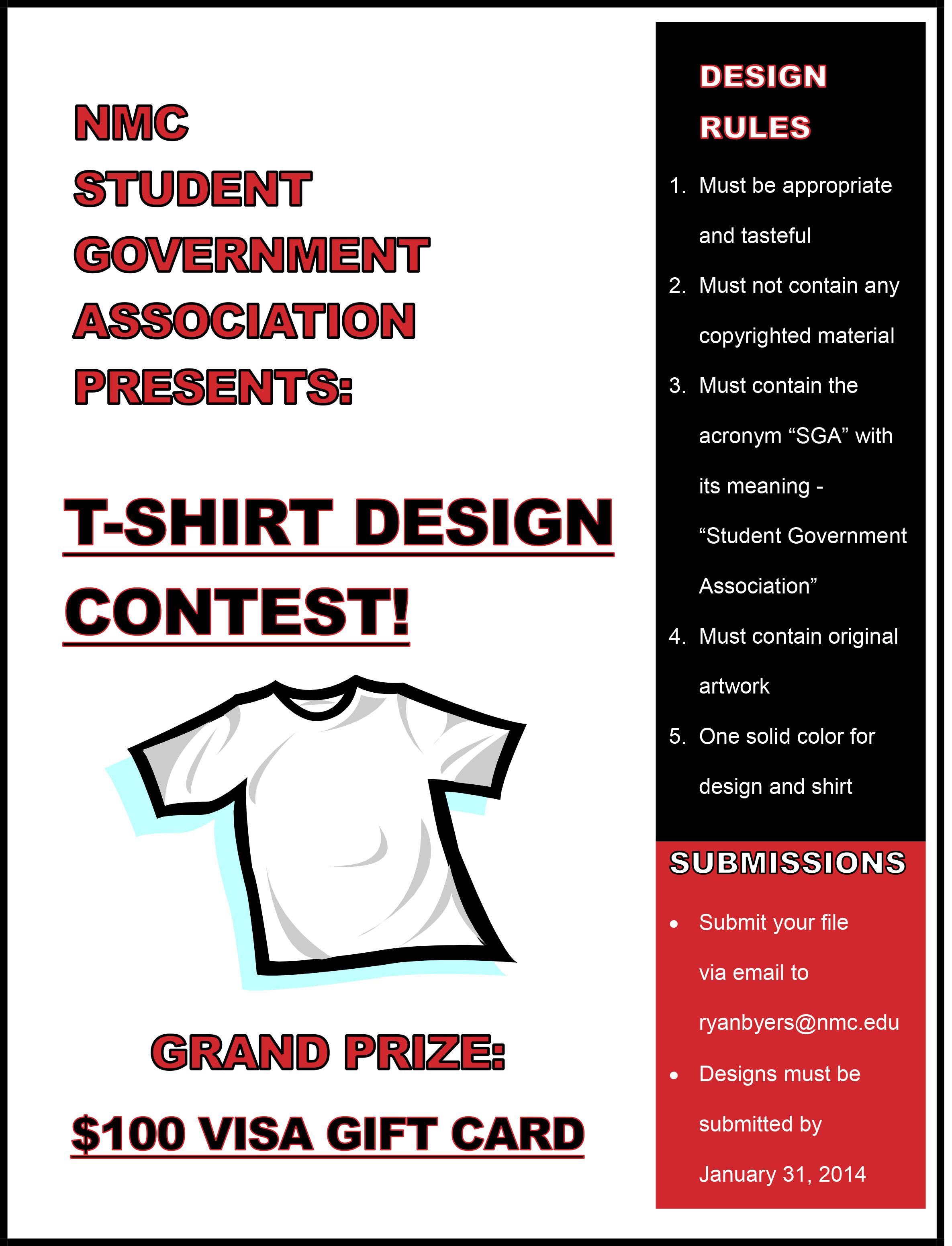 Shirt design contest - Nmc Student Government Association Presents