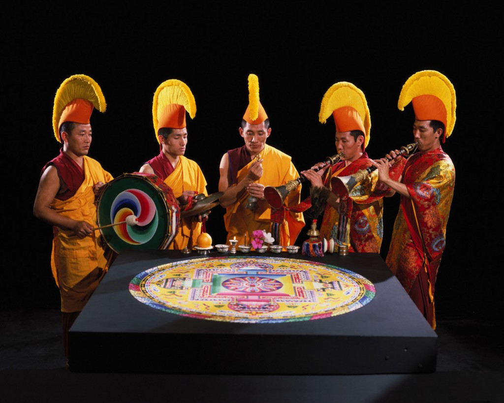 Monks with Sand Mandala