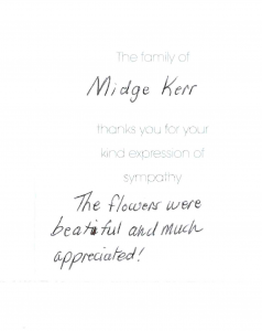 Kerr thank you note