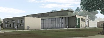 West Hall Innovation center artist's rendering