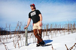 Viticulture student Ethan Baker
