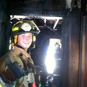 Firefighter and EMT Austin Groessner is one of the first students in a new associate degree-paramedic program offered jointly by NMC and Munson Regional EMS.