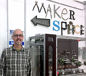 Keith Kelly at the Maker Space