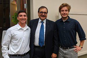 Tunisian Ambassador Hatem Atallah with NMC students