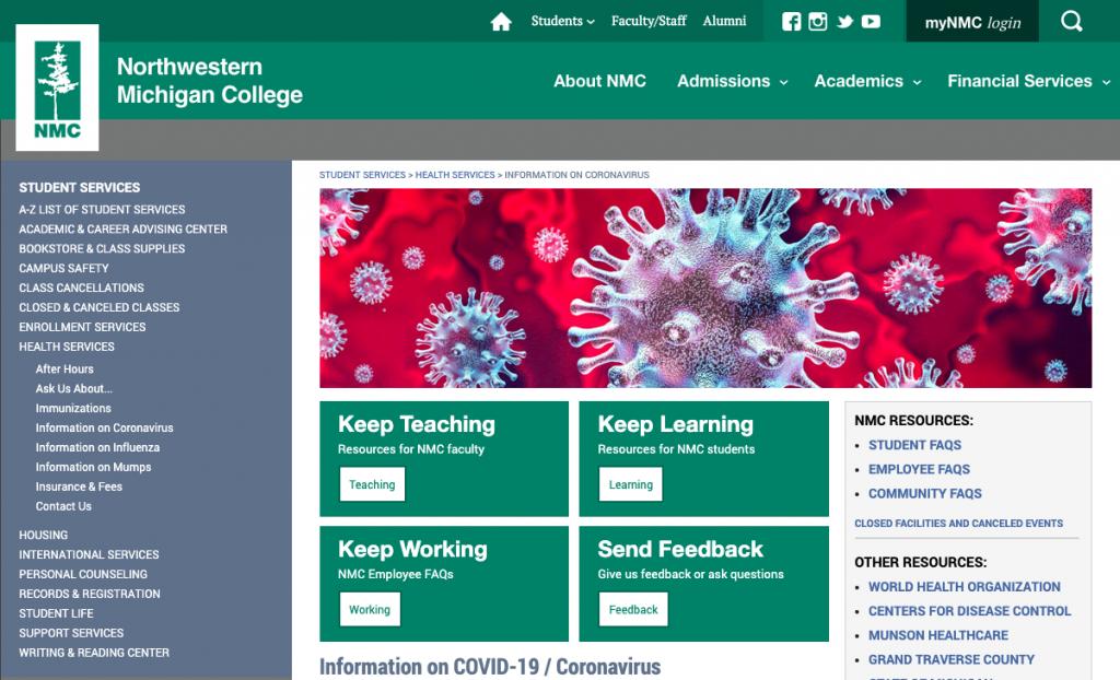 coronavirus page