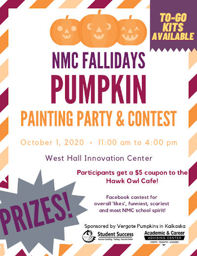Pumpkin painting party flyer