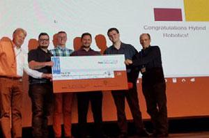 NMC students winning a pitch night prize at TC New Tech