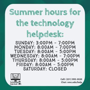 Help desk summer hours